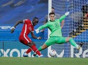Mane scores Liverpool's second goal.