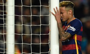 Neymar could be in trouble for his behaviour at the end of the game.