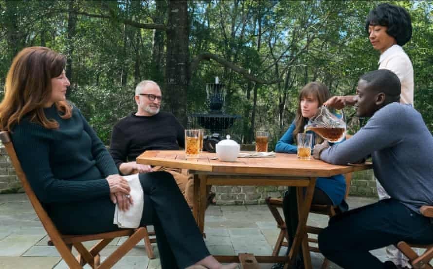 Catherine Keener, Bradley Whitford, Allison Williams, Betty Gabriel and Daniel Kaluuya in Get Out