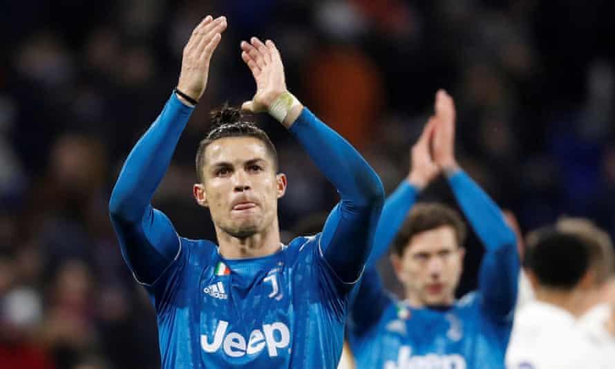 Cristiano Ronaldo after Juventus's recent Champions League fixture against Lyon.