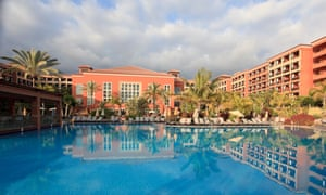 General view of the H10 Costa Adeje Palace hotel in Tenerife.