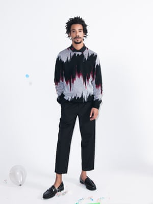 Model wears jumper, £30, asos.com. Shirt, £20, forever21.com. Trousers, £108, allsaints.com. Loafers, £135, by Weejuns, ghbass-eu.com.