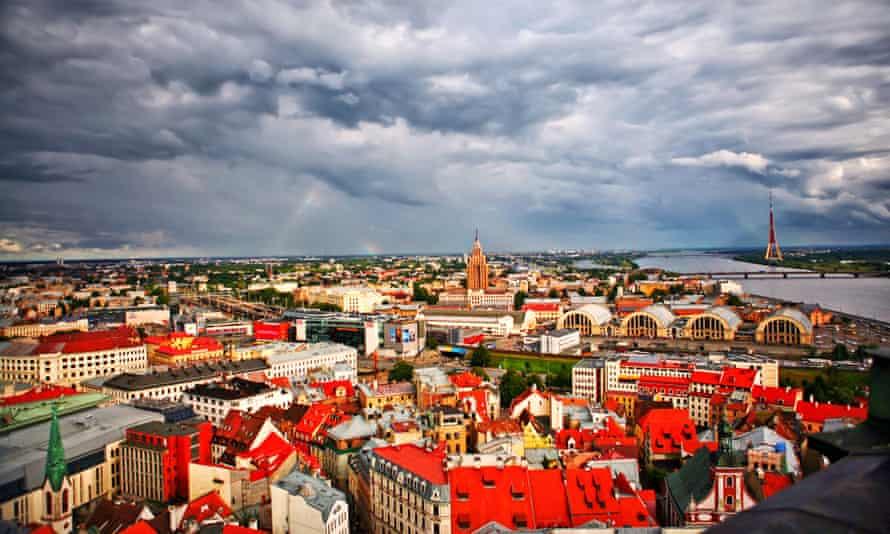 Riga, the capital of Latvia.