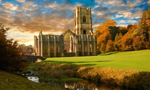 Fountains Abbey, a bus ride from Knaresborough.