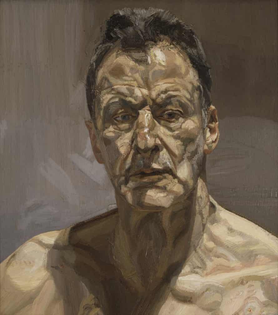Reflection (Self Portrait), 1985, by Lucian Freud.
