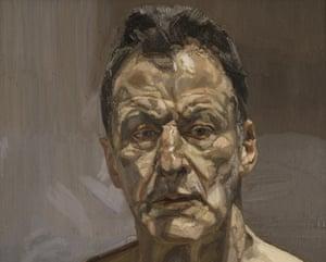 Lucian Freud:Reflection(Self Portrait), 1985.