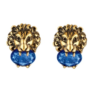 Leo earrings with crystals, £355, gucci.com