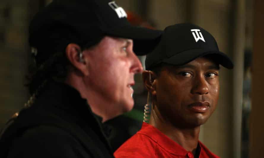 Tiger Woods and Phil Mickelson will both wear microphones as they make their way around Shadow Creek on Friday.