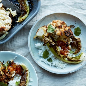 Anna Jones' panch phoran yoghurt-baked cauliflower