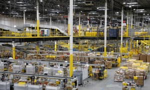 The Amazon fulfilment center in Robbinsville, New Jersey.