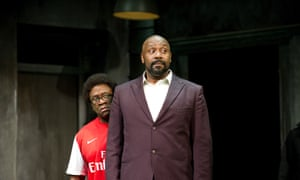 As Dromio of Syracuse, with Lenny Henry as Antipholus of Syracuse, in Shakespeare's The Comedy of Errors at the Olivier in 2011