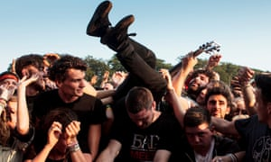 Another stagedive, this time at Leeds festival in 2013.