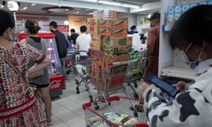 Long queues have been forming at shops and markets since city authorities announced a lockdown in Ho Chi Minh City.