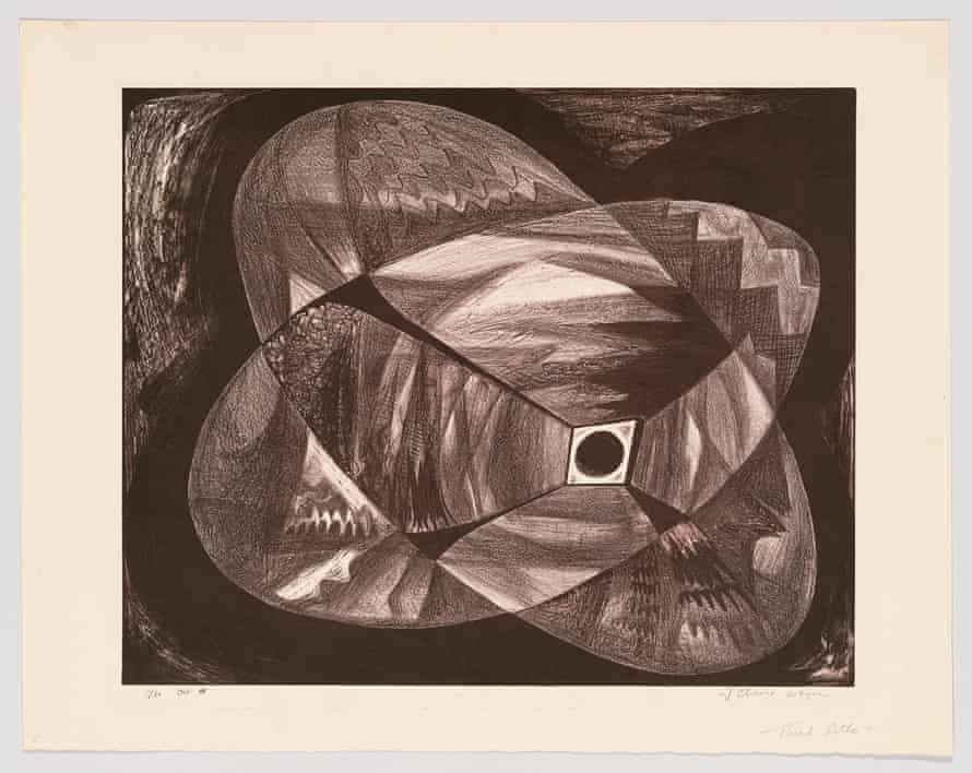 Black Ball in a Room by June Wayne (1948).
