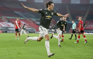 Edinson Cavani's goals at Southampton have helped Manchester United score 16 points out of 21 possible since the international break in October.
