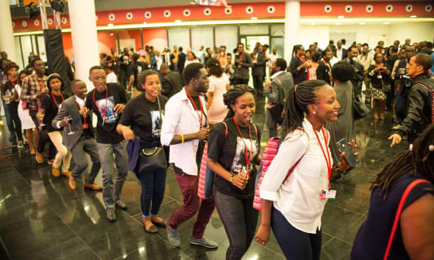 Delegates celebrate on the closing day of the Next Einstein Forum's conference in Kigali in March, where Scientific African was launched.