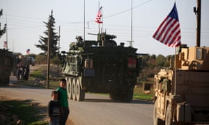 US armoured vehicles in Syria