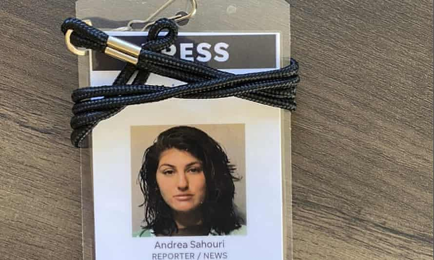 Des Moines Register reporter Andrea Sahouri was arrested on 31 May 2020 arrest while covering a Black Lives Matter protest.