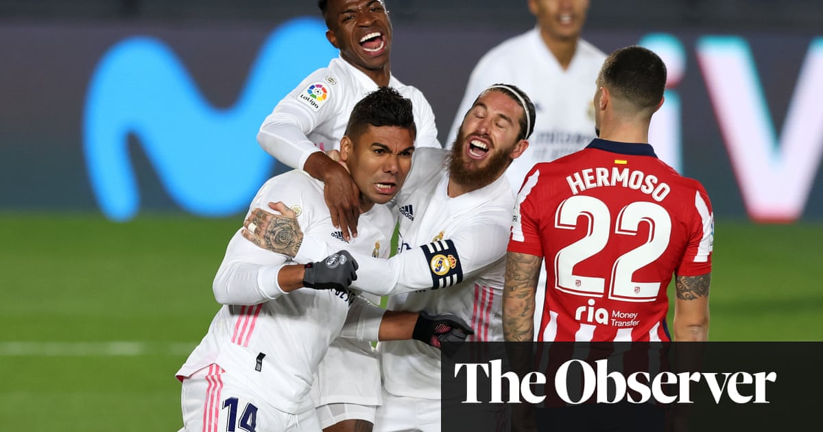 Real Madrid ease to derby win over Atlético after Casemiro opener
