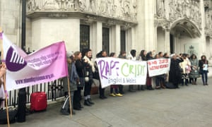 Campaigners outside the supreme court on 21 February.