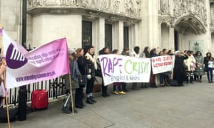 Campaigners outside the supreme court
