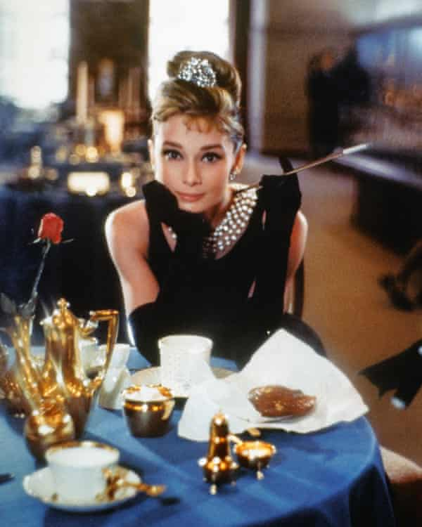Hepburn in a publicity shot for Breakfast at Tiffany's.