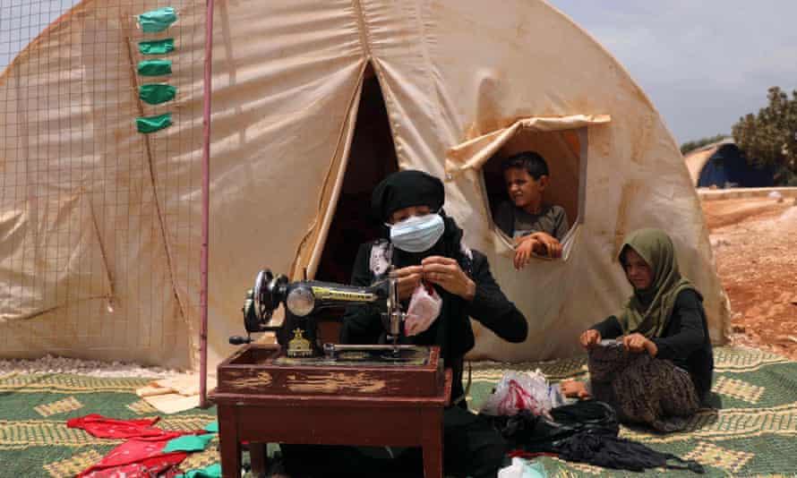 displaced Syrian woman, Syria's northwestern Idlib province