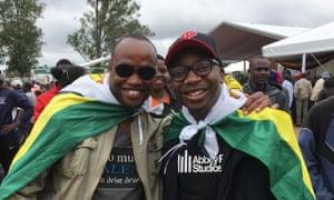Nyikayaramba (right): 'I praise God this has finally happened. '