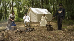 Fiona Foley's Protector's Camp, 2017. From the Horror has a Face series
