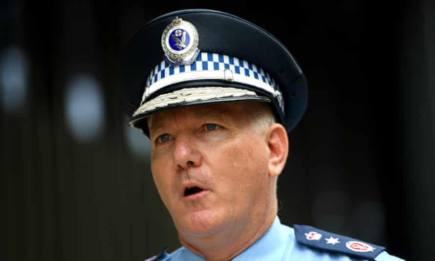 NSW police commissioner Mick Fuller addresses media on Wednesday.