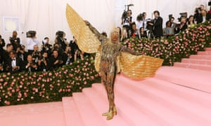 Going for gold: at the Met Gala in May.