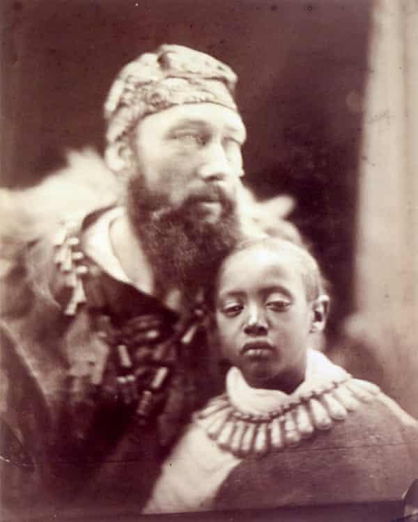 Prince Alemayehu, right, with Tristram Speedy.