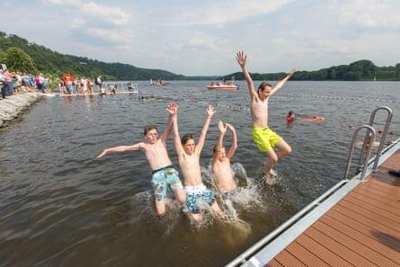 Swimming in the Baldeneysee lake