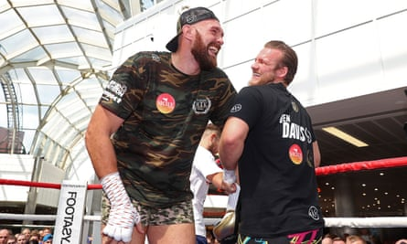 Tyson Fury (left) with Ben Davison in summer 2018 as the pair prepared for Fury's first meeting with Deontay Wilder.