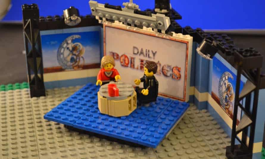 Daily politics show in lego.