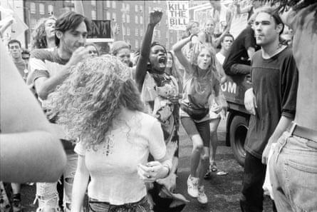 Trafalgar Square protest, May 1994.