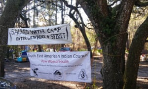 Protesting the pipeline at Live Oak, Florida.