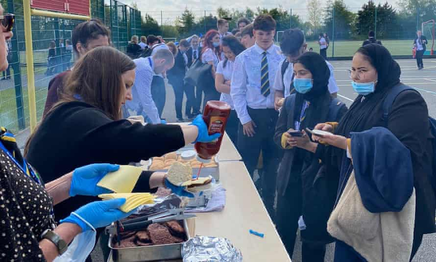 Ralph Thoresby school's Year 11 event included a barbecue