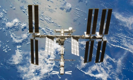 The International Space Station in 2008.