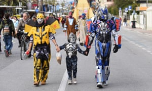 A family of Transformers.