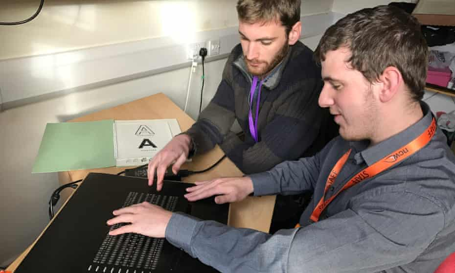 Bristol Braille Technology, which won the accessibility award, created an affordable braille electronic reader, designed with, by and for blind people