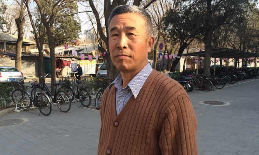 Retired teacher Chen Shuxiang. 'My father was a human being, not an animal,' he says.