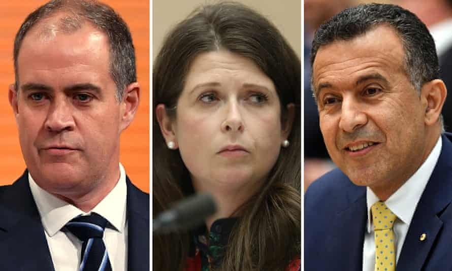 Possible successors to Michelle Guthrie, from left: David Anderson, Louise Higgins and Michael Ebeid.