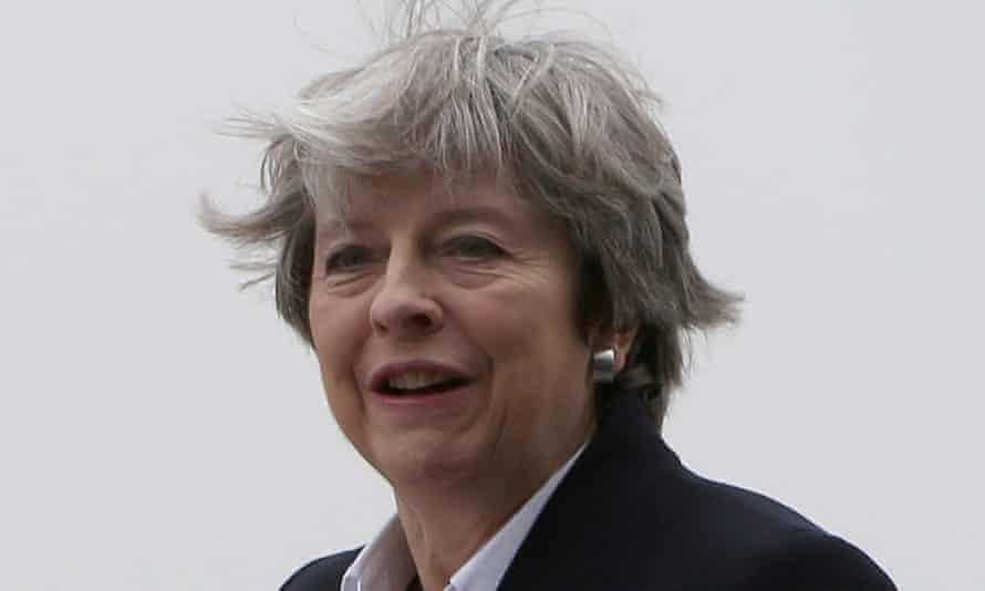 Theresa May at RAF Akrotiri in Cyprus