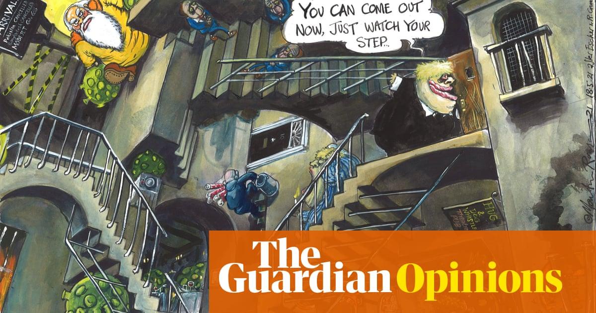 Martin Rowson on Boris Johnson's coronavirus lockdown easing – cartoon