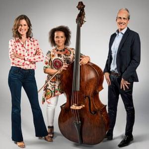Katie Derham, Chi-chi Nwanoku, Paul Daniel - the judges for BBC's Great Orchestra Challenge