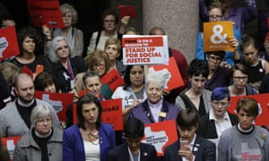 Opponents of the bill protest in the exterior rotunda at the Texas capitol on Tuesday.