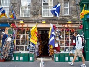 Tartan crazy shop on Edinburgh's Royal Mile