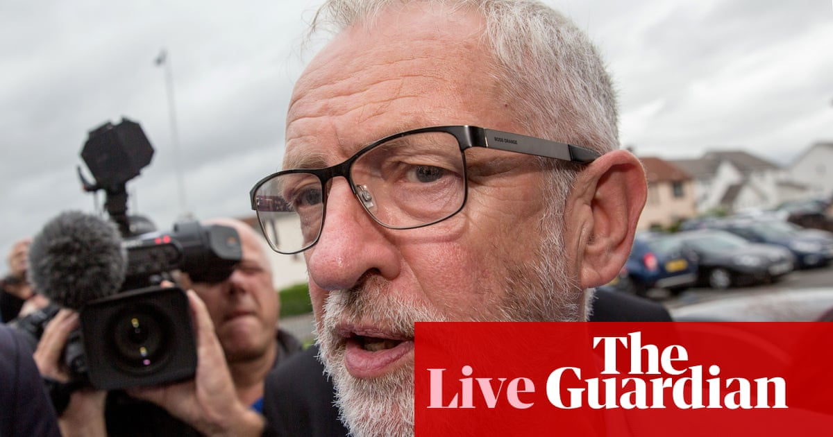 Jeremy Corbyn says he will try to 'politically stop' prorogation with legislation – live news