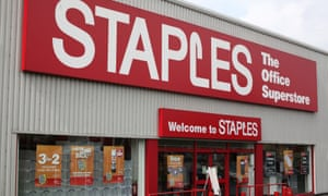 A Staples store in London.